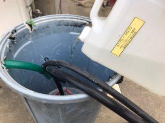 中津川市、バイオ洗浄と高圧水洗浄