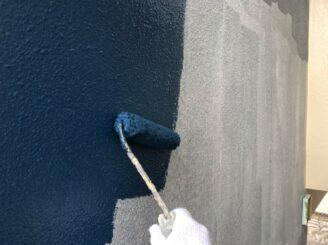 瑞浪市でマンション外壁塗装 外壁中塗り塗装