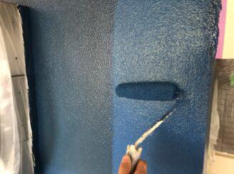 瑞浪市でマンション外壁塗装 外壁上塗り塗装