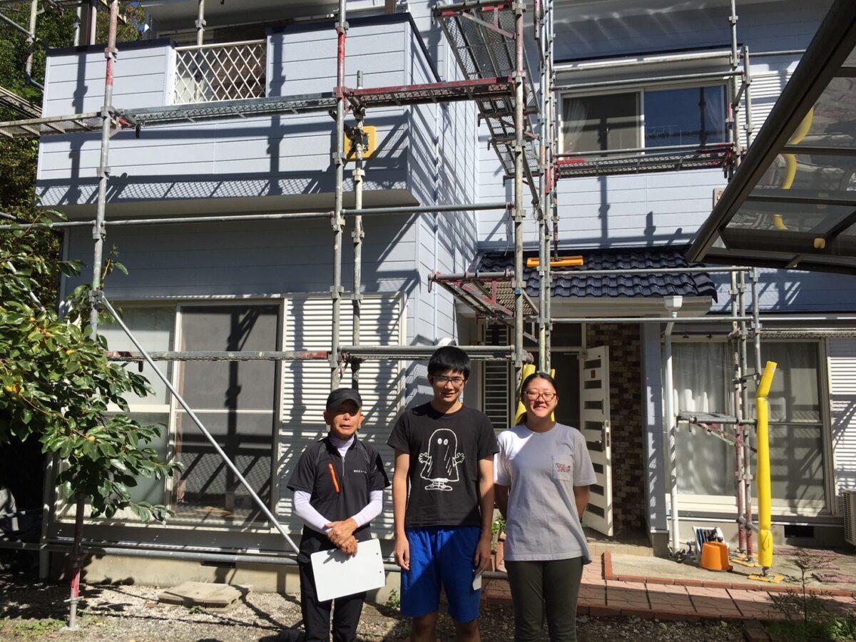 屋根は遮熱フッ素、外壁は超低汚染塗料で塗り替えを行いました。中津川市!