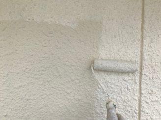 可児市で外壁の上塗り塗装