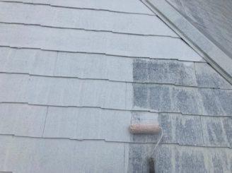 多治見市屋根2回下塗り