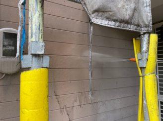 外壁のバイオ洗浄と高圧洗浄
