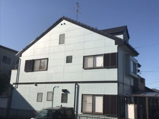 瀬戸市で屋根外壁塗装工事、ベランダ防水工事(圧着式)をおこないました