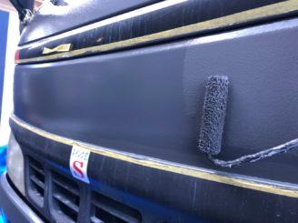 多治見市で作業車の塗り替え 上塗り塗装完成