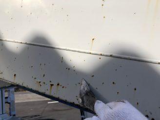 多治見市で作業車の塗り替え さび落とし