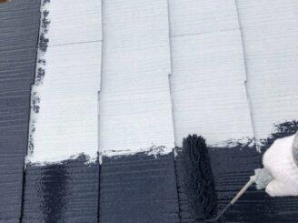 多治見市で屋根中塗り塗装