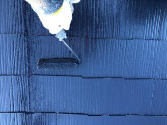 多治見市で屋根上塗り塗装 フッ素塗料