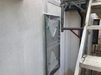 多治見市で屋根外壁塗装 養生完成