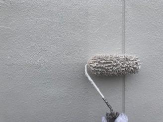 春日井市で塀の補修作業