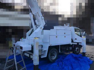 多治見市で作業車の塗り替え 下塗り塗装完成