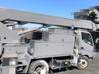 多治見市で作業車の塗り替え 上塗り塗装完
