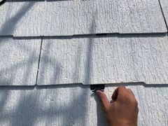 瑞浪市で屋根と外壁の塗り替えです。雨漏りを防ぐタスペーサーを入れました。