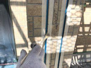 恵那市でサイディング目地のシーリングの打ち替えを行いました