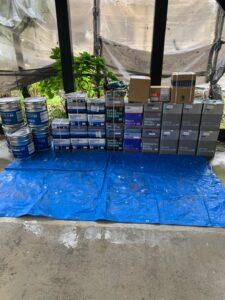 中津川市で、鉄筋塗装のケレン作業とコーキング補修を行いました