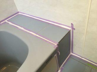 多治見市 お風呂のタイルの壁にパネル張り 浴室リフォーム