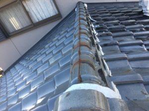 多治見市 屋根のしっくいのはがれ 屋根工事