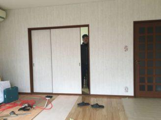 多治見市 絨毯の床の張り替え 大工工事