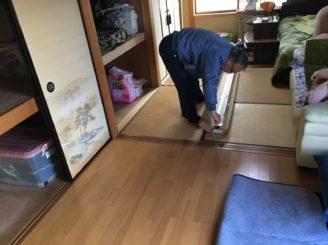 土岐市 畳からフロアー張りに変更の床工事 大工工事