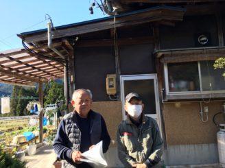中津川市付知町のH様邸です。喜びの笑顔です。