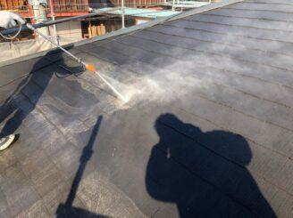 中津川市、屋根のバイオ洗浄