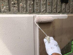 瑞浪市学園台で、品質の良い艶消し塗料でブロック塀の塗装を行いました。