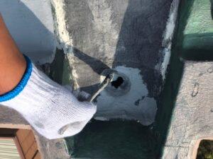 瑞浪市釜戸町で屋上防水工事が間もなくキレイに完了します