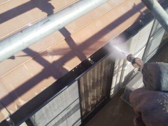 多治見市で屋根外壁塗 屋根高圧洗浄