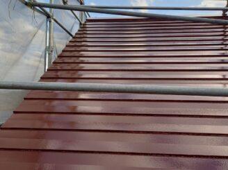 多治見市で屋根外壁塗 屋根塗り替え完成