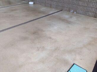 土岐市でタイル部分の外壁の塗り替え 高圧水バイオ洗浄