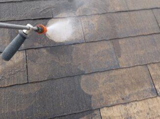 多治見市で屋根外壁塗装 屋根のバイオ洗浄 高圧水洗浄 高圧洗浄