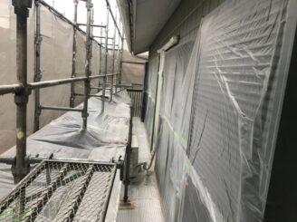 土岐市で屋根一部葺き替え 外壁塗り替え塗装 養生完成