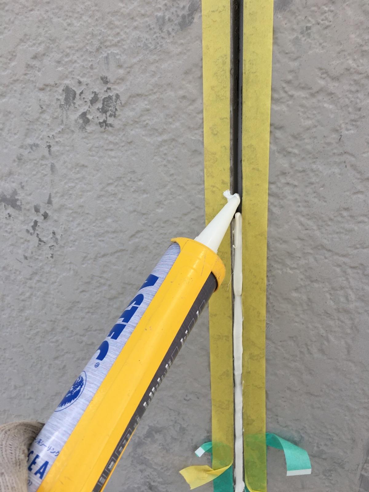 多治見市 外壁の塗り替えの下地処理