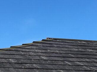 多治見市で屋根外壁塗装 屋根のバイオ洗浄前 高圧洗浄前