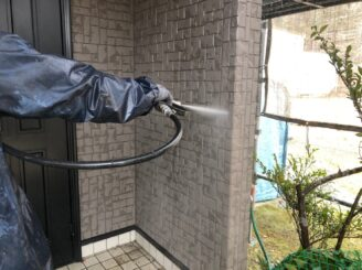 中津川市、外壁のバイオ洗浄