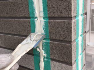 土岐市でタイル部分の外壁の塗り替え 目地打ち替え