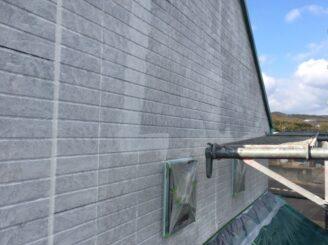 土岐市でタイル部分の外壁の塗り替え 外壁下塗り塗装