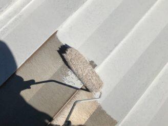 多治見市で屋根外壁塗 屋根下塗り塗装