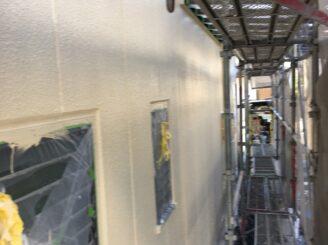 多治見市で屋根外壁塗 外壁上塗り塗装完成