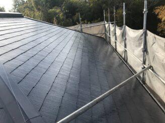 瑞浪市で屋根塗装 上塗り塗装完成