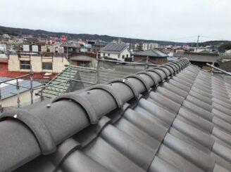 土岐市で屋根一部葺き替え 外壁塗り替え塗装 瓦葺き替え後