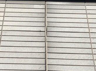 土岐市でタイル部分の外壁の塗り替え 工事前の状態