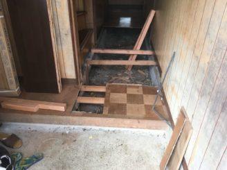多治見市 床の土台組み直し 床のリフォーム