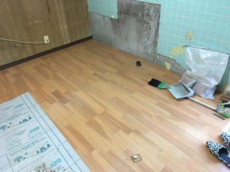多治見市 フロアー張り 床の補修