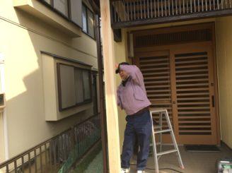 土岐市 木部の補修 外壁塗装