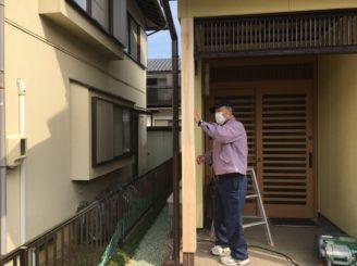土岐市 外壁塗装 木部の塗装 柱の入れ替え