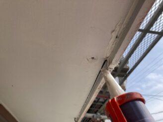 春日井市で屋根外壁塗り替え塗装 隙間補修 コーキング