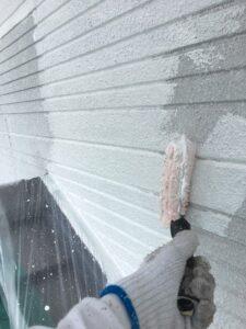 瑞浪市、外壁の下塗り塗装