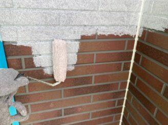 春日井市で屋根外壁塗り替え塗装 外壁下塗り