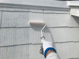 可児市で屋根外壁塗装 屋根下塗り塗装